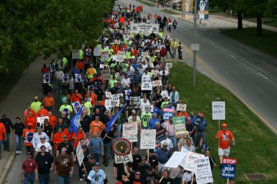 Champaign Illinois Rally Support Labor