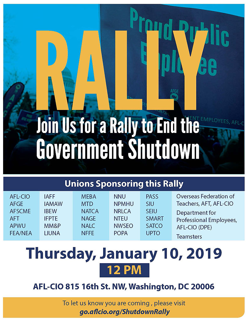 Unions Rally to Reopen Government