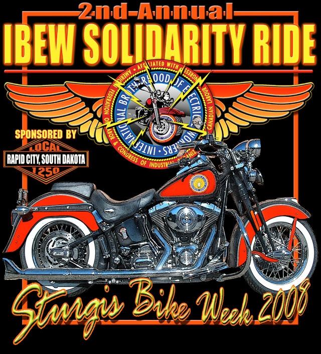 Ibew Solidarity Ride Poker Run Prizes Bbq Supper