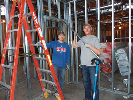 Local 601 Members Ben Kinder Left And Mike Siems Work On A University Of Illinois Project