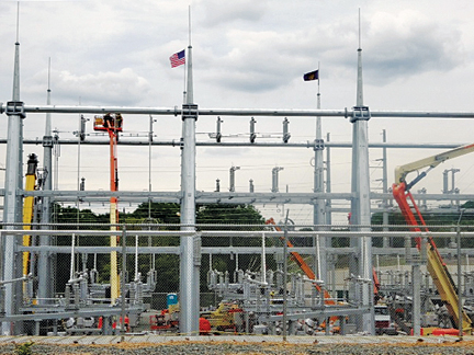 IBEW Local 42 Members Working With McPhee Electrical Contractors Are Building A New Substation In Chicopee MA