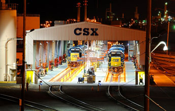 The CSX Selkirk Repair Yard where J.J. Giuliano was local chairman of Albany, N.Y., Local 770. Giuliano has filed a retaliation complaint against CSX. Photo by Flickr user BrianBenson used under a Creative Commons license.