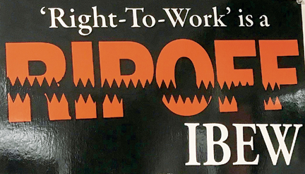 The electrical worker online ibew local 124 and organized labor fight to defeat right to work measures platinumwayz