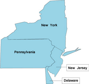Map Of New York Pennsylvania And New Jersey.Ibew 3rd District Home